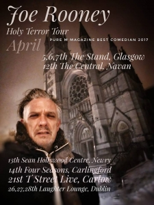 Here are my dates for April. It's a Holy Terror.